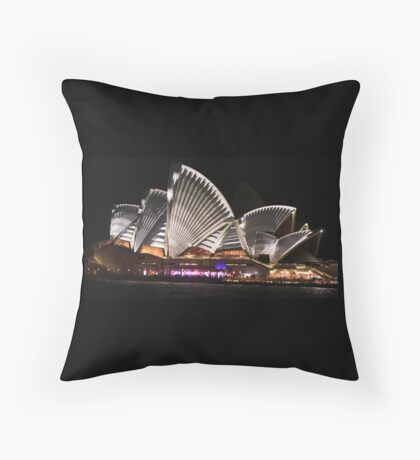 Sydney and the Vivid Festival Throw Pillow