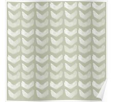 Mint Hand Painted Chevron Poster