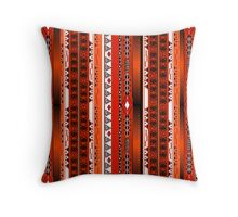 African ethno abstract seamless tribal pattern with decorative folk elements background Throw Pillow