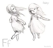 F for Fairy Photographic Print
