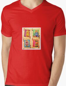 Playing with Beauty Mens V-Neck T-Shirt