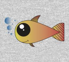 Cute goldfish with bubbles Baby Tee