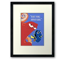 Dory and Hank - Finding Dory Framed Print