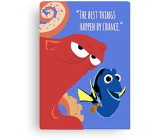 Dory and Hank - Finding Dory Canvas Print