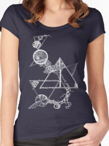 Time and space (white design) Women's Fitted Scoop T-Shirt