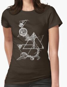 Time and space (white design) Womens Fitted T-Shirt