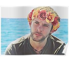 Charlie Pace Flower Crown Poster