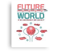 Future World Map Canvas Print