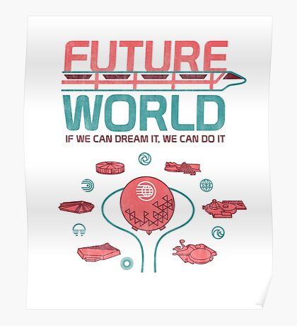 Future World Map Poster