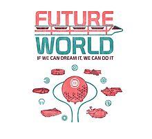 Future World Map Photographic Print