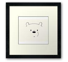 We Bare Bears - Ice Bear Framed Print