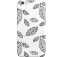 Monochrome Leaf Pattern iPhone Case/Skin