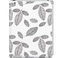 Monochrome Leaf Pattern iPad Case/Skin