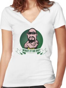 What It Do Do? Women's Fitted V-Neck T-Shirt