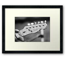 Fender Telecaster Monochrome - Detail Framed Print