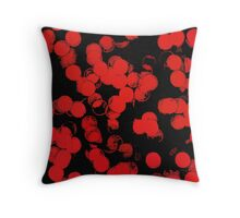 Red Bubbles Pattern Throw Pillow
