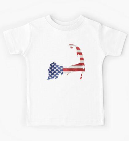 Cape Cod Patriotic Kids Tee