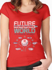 Future World Map in Colors Women's Fitted Scoop T-Shirt