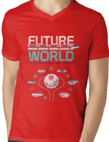 Future World Map in Colors Mens V-Neck T-Shirt