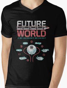 1982 EPCOT Center Future World Map Mens V-Neck T-Shirt