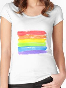 LGBT parade flag, gay pride symbol Women's Fitted Scoop T-Shirt