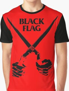 Retro Punk Restyling   - Black Flag scissors Graphic T-Shirt