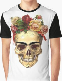 Frida Kahlo Skull Graphic T-Shirt