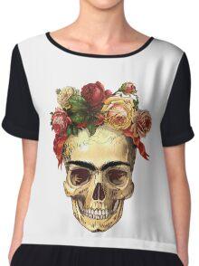 Frida Kahlo Skull Chiffon Top