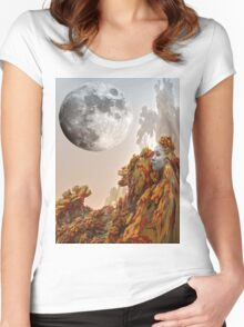 Moon Journey Women's Fitted Scoop T-Shirt