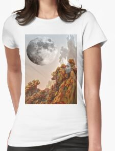 Moon Journey Womens Fitted T-Shirt