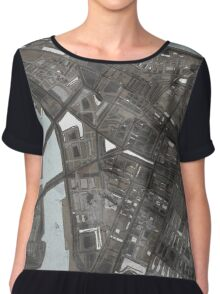 Abstract Map of Lower Manhattan Chiffon Top