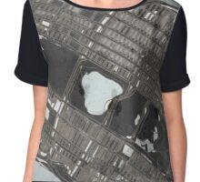 Abstract Map of Central Park, NYC Chiffon Top
