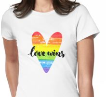 Love wins. Gay saying. Womens Fitted T-Shirt