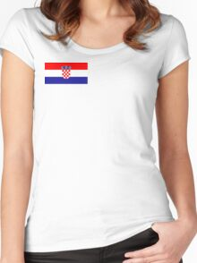 Croatia Women's Fitted Scoop T-Shirt