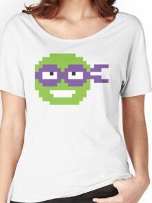 Nerdy Pixel Donatello Teenage Mutant Ninja Turtle Women's Relaxed Fit T-Shirt