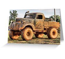 Mud truck ( Korn fed ) Greeting Card