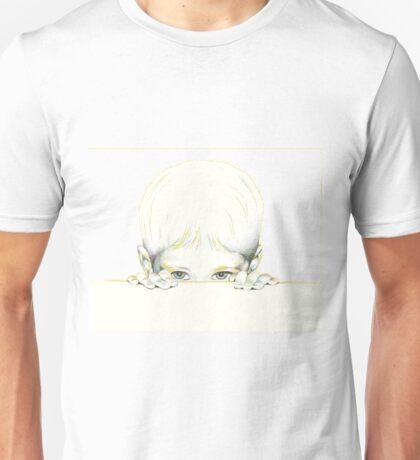 Peeking child Unisex T-Shirt