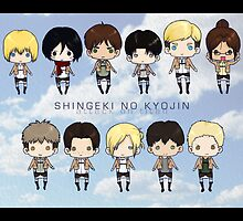 Attack on Titan chibis by tobiejade