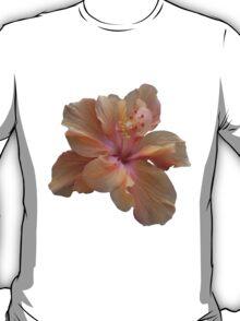 Peach Hibiscus T-Shirt