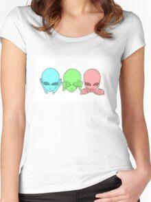 Hear no. See no. Speak no. Women's Fitted Scoop T-Shirt
