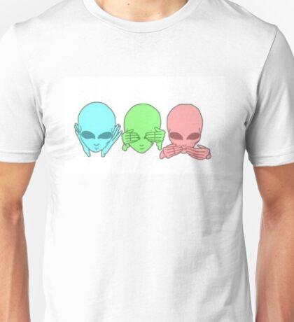 Hear no. See no. Speak no. Unisex T-Shirt