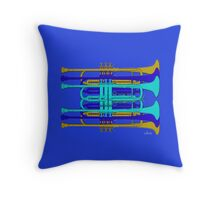 Six Trumpets Throw Pillow