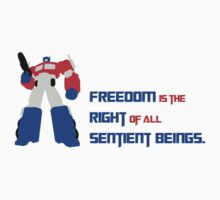 Optimus Prime Motto by fanfools