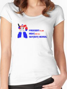 Optimus Prime Motto Women's Fitted Scoop T-Shirt