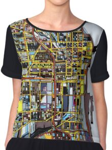 Abstract Map of Chicago IL Chiffon Top