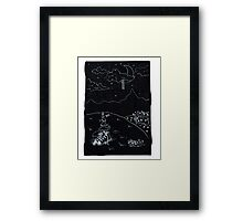 pathway to the moon Framed Print