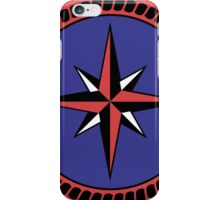 Nautical round north south east west dial iPhone Case/Skin
