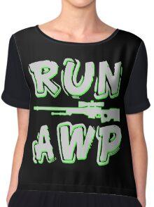 Run AWP white Chiffon Top