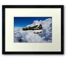 Fortress and Mustang Framed Print