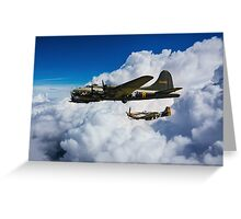 Fortress and Mustang Greeting Card